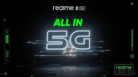 Το realme 8 5G έρχεται με 5G επεξεργαστή νέας γενιάς και δυναμικό σχεδιασμό speed light 8,5 mm