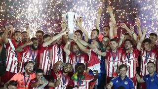 Super League: Το πανηγύρι του Ολυμπιακού για το 46ο πρωτάθλημα