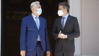 Έμφαση σε εμπόριο και ενέργεια στην συνάντηση Μητσοτάκη με τον πρωθυπουργό του Μαυροβουνίου