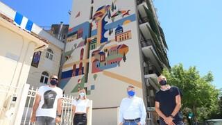 Νέα δημόσια τοιχογραφία αφιερωμένη στον Αγήνορα Αστεριάδη και στο έργο του
