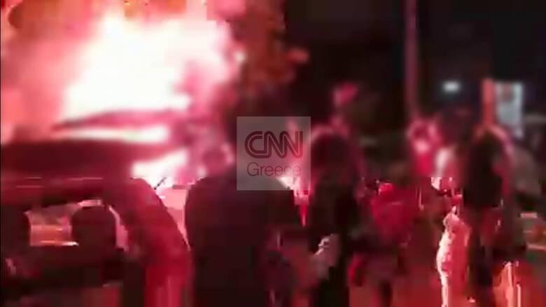 Αποκλειστικό CNN Greece: Βίντεο από το κορωνοπάρτι της Νέας Σμύρνης