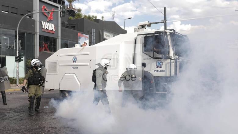 Ένταση και χημικά σε συγκέντρωση υπέρ των Παλαιστινίων έξω από την ισραηλινή πρεσβεία
