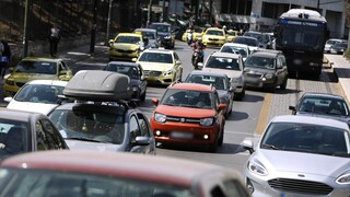 Αυξημένη κίνηση και μποτιλιάρισμα στους δρόμους της Αθήνας