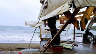 Βορειανατολικό Αιγαίο: Εκτεταμένες ζημιές μετά την επέλαση υδροστρόβιλου