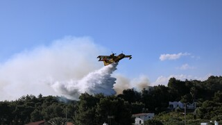 Φωτιά Σχίνος: Συνεχίζεται η «μάχη» για την κατάσβεση - Διάσπαρτες εστίες στα Γεράνεια Όρη