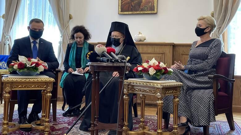 Οικουμενικό Πατριαρχείο: Συνάντηση Βαρθολομαίου με τον πρόεδρο της Πολωνίας
