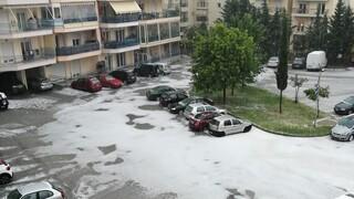 Ξάνθη: Ισχυρή καταιγίδα και χαλάζι - Βούλαξιαν οι δρόμοι, ζημιές σε καλλιέργειες