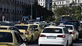 Αυξημένη η κίνηση στους δρόμους της Αθήνας