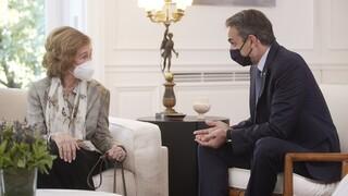 Συνάντηση Μητσοτάκη με την Βασίλισσα Σοφία: Ο διάλογος μπροστά στις κάμερες
