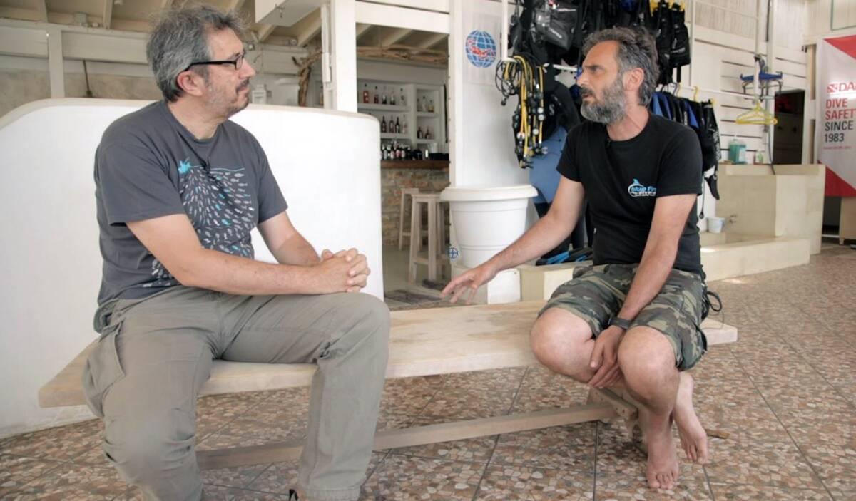 Ο συντάκτης του CNN Greece με τον κ. Παναγιώτη Νιφλή