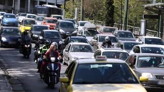 Μποτιλιάρισμα στους δρόμους της Αθήνας λόγω απεργίας των ΜΜΜ