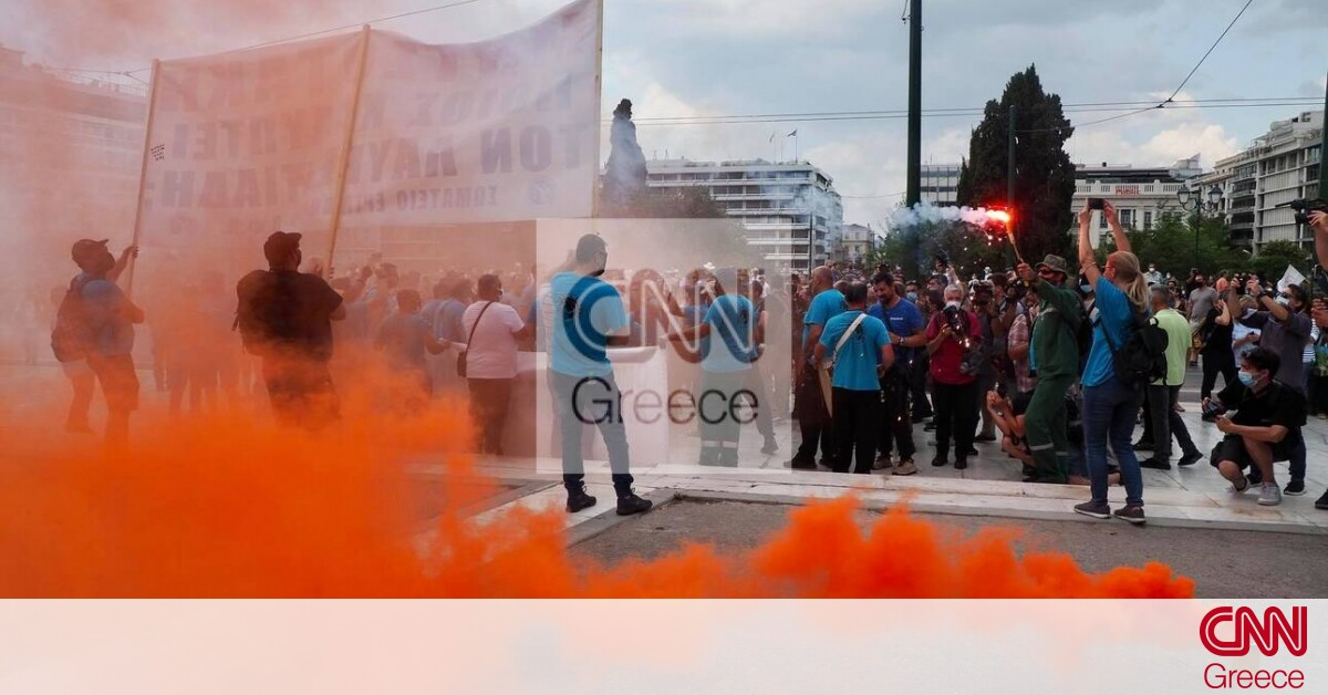 Απεργία: Στη Βουλή οι διαδηλωτές κατά του νομοσχεδίου – Μεγάλη πορεία και κυκλοφοριακό «έμφραγμα»