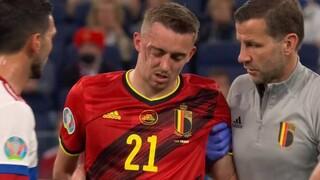 Euro 2020 - Βέλγιο-Ρωσία: Νέο σοκ από σφοδρή σύγκρουση Κουζιάεφ-Καστάνιε