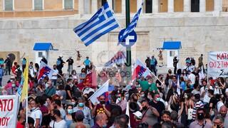Απεργιακό συλλαλητήριο για το εργασιακό νομοσχέδιο στο Σύνταγμα