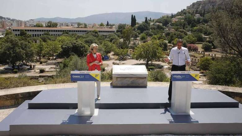 Mητσοτάκης σε Φον Ντερ Λάιεν: Το σχέδιο «Ελλάδα 2.0» ανήκει στον ελληνικό λαό