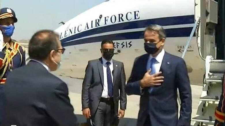 Έφτασε στο Κάιρο ο Κυριάκος Μητσοτάκης