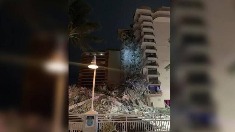 Κατάρρευση πολυώροφου κτηρίου στο Μαϊάμι - Τεράστια επιχείρηση διάσωσης
