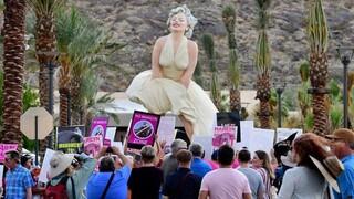 Ένα άγαλμα της Μέριλιν Μονρόε διχάζει το Παλμ Σπρινγκς