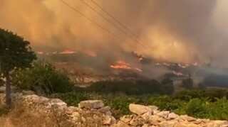 Φωτιά στην Πάρο: «Μάχη» με τις φλόγες σε διάσπαρτες εστίες - Φθάνουν ενισχύσεις από τον Πειραιά