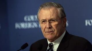Πέθανε ο πρώην υπουργός Άμυνας των ΗΠΑ Ντόναλντ Ράμσφελντ