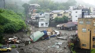Ιαπωνία: Φόβοι για τουλάχιστον δυο νεκρούς από τις καταρρακτώδεις βροχές