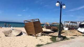 Ανεμοστρόβιλος σε παραλία της Χαλκιδικής: Τραυματίστηκε λουόμενη