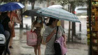 Άστατος σήμερα ο καιρός με βροχές και καταιγίδες