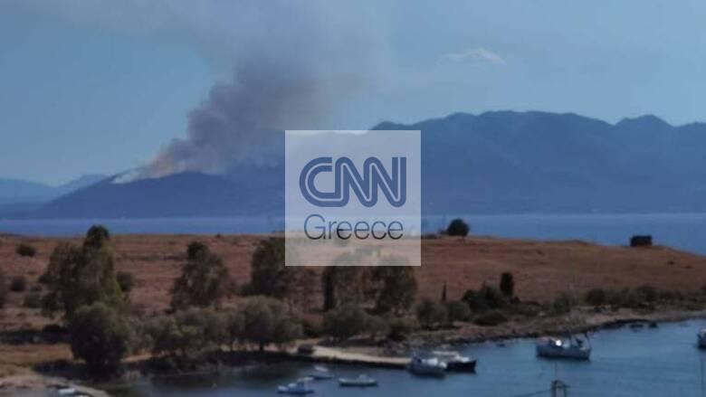 Φωτιά στα Μέθανα: Καλύτερη η εικόνα - Παραμένουν οι ισχυρές δυνάμεις