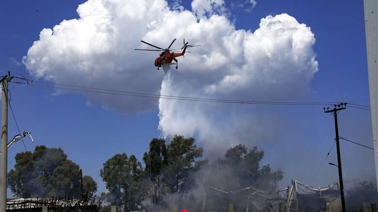Υπό μερικό έλεγχο η φωτιά στη Χιόνα Αχαΐας