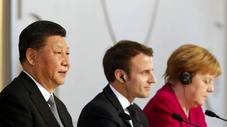 Διεύρυνση της συνεργασίας με την ΕΕ ζητά η Κίνα από Μέρκελ και Μακρόν