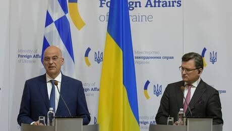 Στο Κίεβο ο ΥΠΕΞ: Αιχμή Δένδια για την προσέγγιση της Ουκρανίας με την Τουρκία
