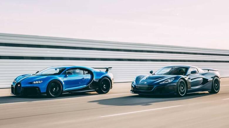 H Bugatti ενώθηκε με τη Rimac των ηλεκτρικών hypercars, επιβεβαιώνοντας τις φήμες