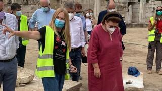 ΥΠΠΟΑ: Έργα αποκατάστασης εμβληματικών μνημείων της πόλης της Λάρισας - Αυτοψία Μενδώνη