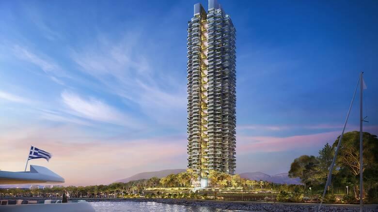 Ελληνικό: Αποκαλυπτήρια για τον ουρανοξύστη Marina Tower - 200 διαμερίσματα, 45 όροφοι