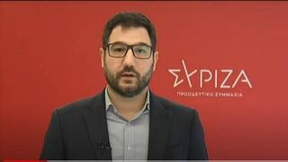 Ηλιόπουλος: Ο Χαρδαλιάς δεν έδωσε απαντήσεις για τις χθεσινές αποκαλύψεις