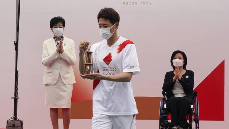 Ολυμπιακοί Αγώνες Τόκιο: Έφτασε χωρίς θεατές η ολυμπιακή φλόγα