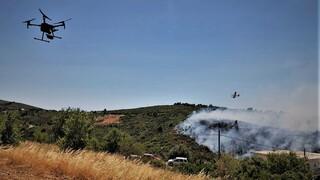 Φωτιά στο Βαρνάβα: Οι εικόνες που κατέγραψε drone της πυροσβεστικής από την πυρκαγιά