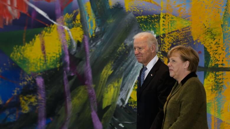 «Σιδερένια η συνεργασία ΗΠΑ-Γερμανίας» δηλώνει ο Μπάιντεν ενόψει της συνάντησης με Μέρκελ