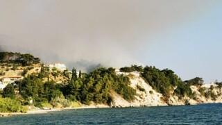 Φωτιά στη Σάμο: Καλύτερη η εικόνα - Συνεχίζεται η «μάχη» σε διάσπαρτες εστίες