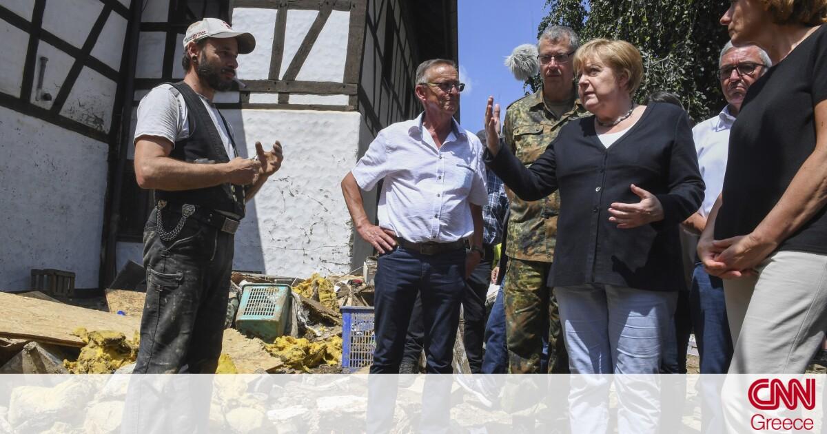 Φονικές πλημμύρες στη Γερμανία: Άμεση οικονομική βοήθεια στους πληγέντες υποσχέθηκε η Μέρκελ