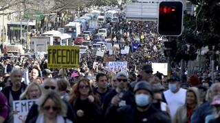 Αυστραλία: Νέος αριθμός ρεκόρ κρουσμάτων και διαδηλώσεις κατά του lockdown