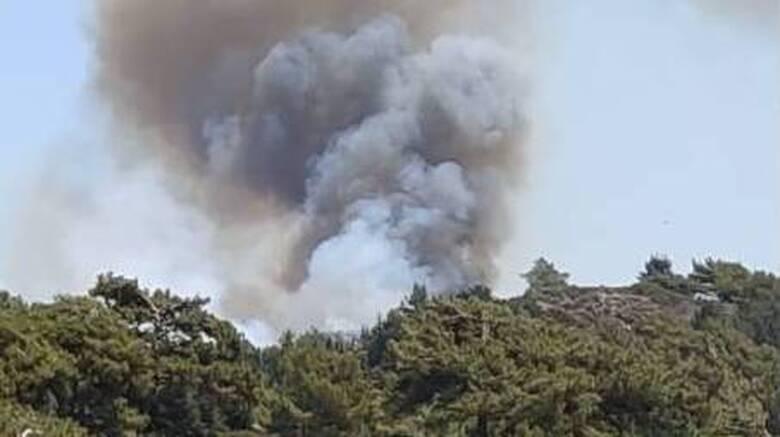 Μεγάλη φωτιά στη Ρόδο: Επί ποδός ισχυρή δύναμη της πυροσβεστικής