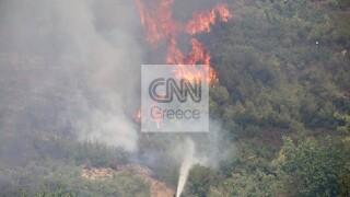Φωτιά στη Σταμάτα: Προειδοποίηση meteo για ενίσχυση ανέμων στην περιοχή