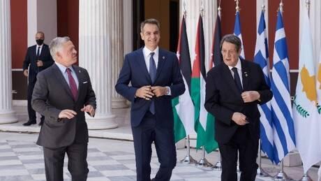 Τριμερής Ελλάδας - Κύπρου - Ιορδανίας: Να σταματήσουν όλες οι μονομερείς ενέργειες της Τουρκίας
