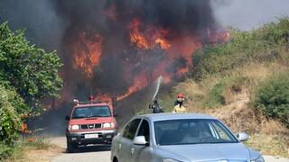 Μάχη με τις φωτιές στην Αχαΐα: Εκκενώθηκε η Πτέρη - Προειδοποίηση για άλλους δυο οικισμούς
