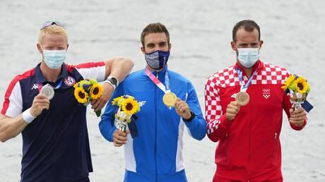Ολυμπιακοί Αγώνες Τόκιο - Στέφανος Ντούσκος: Η συγκινητική στιγμή της απονομής του χρυσού μεταλλίου