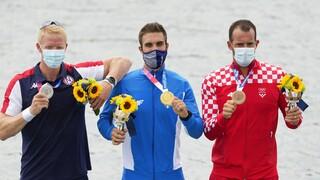 Ολυμπιακοί Αγώνες 2020 - Στέφανος Ντούσκος: Η συγκινητική στιγμή της απονομής του χρυσού μεταλίου