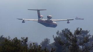 Βόνιτσα: Μεγάλη φωτιά σε δασική έκταση - «Σηκώθηκε» και το ρωσικό Beriev-200