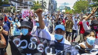 Μιανμάρ: Διαδηλώσεις κατά της χούντας ενόψει της συμπλήρωσης έξι μηνών από το πραξικόπημα