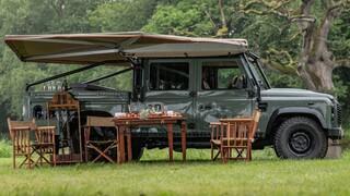 Αυτό το κλασικό Land Rover είναι ιδανικό για πικ-νικ πολυτελείας